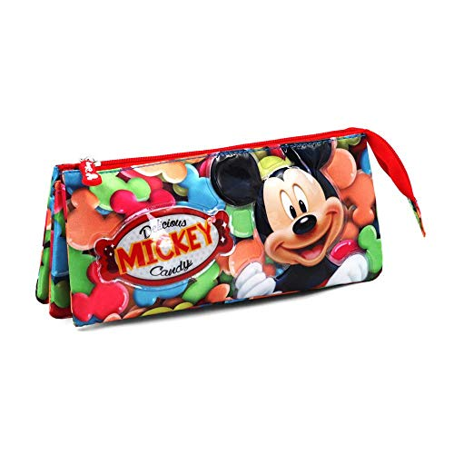 Mickey Mouse Delicious Federmäppchen, 24 cm, Rot (Rojo)
