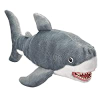 Wild Republic 20748 Predator Plush White Shark Soft Vinyl Mouth, Cuddly Toy, 41 cm, Multi