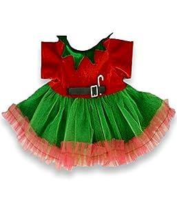 Construya su Bears Armario 15-Inch Ropa Fit Construir un Oso Vestido de Papá Noel Elf