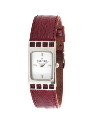Régnier Cadrage Ladies Analog Watch 2070232 with Red Leather Strap