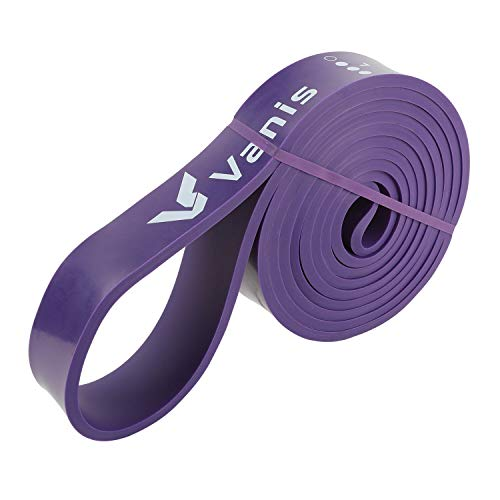 VANIS-Resistance-Bands-Exercise-Bands-for-Men-Women-Asisted-Pull-Up-Stretch-Loop-Strength-Sports-Fitness-Equipment-Arms-Legs-and-Glutes-Long-Elastic-Training-Bands-Yoga-WorkoutsPurple32mm-Wide