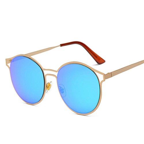 SANFASHION sonnenbrille damen retro Ellipse Metallrahmen Brille Trendy Fashion Shades