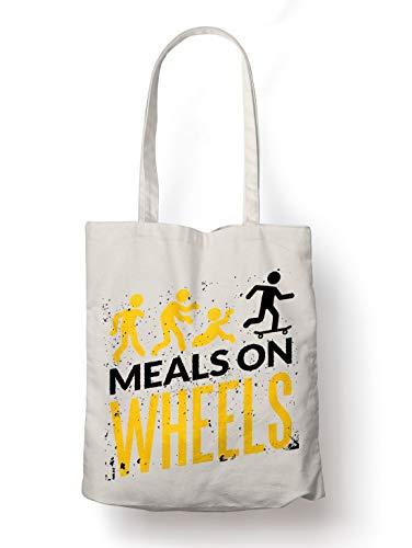 BLAK TEE Halloween Meals on Wheels Organic Cotton Reusable Shopping Bag Natural