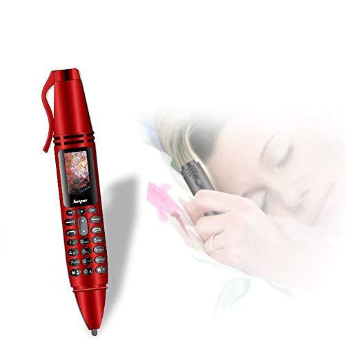 TONGTONG Multifunktionale Remote Noise Reduction Backclip Audio Recorder Dual SIM Karte GSM Handy BT V3.0 Diale Dialer,Red -