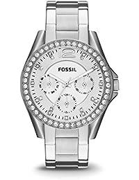 Fossil Damen Analog Quarz Uhr mit Edelstahl Armband ES3202