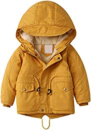 YFPICO Chaqueta Clásico y Elegante con Capucha Abrigo de Algodón Acolchado Engrosamiento Invierno para Niños