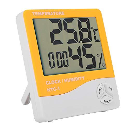 Lazmin Termómetro higrómetro Digital, Pantalla LCD Termómetro Termómetro Digital para Interiores...