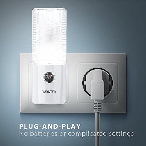 AVANTEK-2-Pack-LED-Night-Light-Plug-and-Play-Automatic-Wall-Lights-with-Dusk-to-Dawn-Sensor