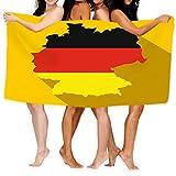 """Xunulyn Bath Towel Beach Towel Map Germany Flag Germany Icon Map Germany Flag Federal Republic Germany Icon Flat Style Yellow Bath Towels 31"""" X 51""""..."""