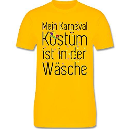 Karneval & Fasching - Mein Karneval Kostüm ist in der Wäsche - Herren Premium T-Shirt Gelb