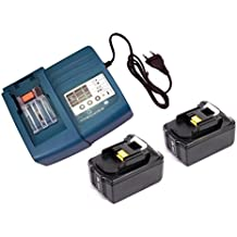 2pieza sustituir batería Makita BL184018V 4.0Ah con luces de LED & Cargador Makita DC18RA DC18SC dc1803dc14sa DC18047.2V de 18V