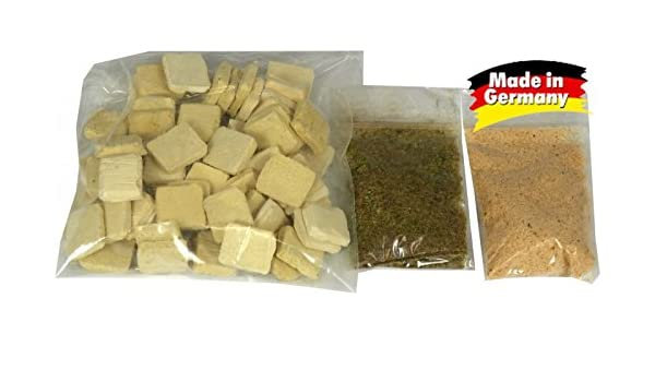 60 pezzo piastre pavimento piastrelle sandsteinfarben per presepi e
