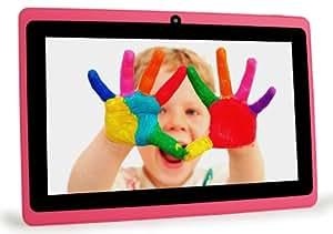 CONNECT A7 Classic Plus Tablette Tactile - 7 pouces écran capacitif, Android 4.2, 8 Go de stockage, 1.2GHz processeur, double caméra, WIFI Tablet PC, vidéo HD, batterie 3000mah, Google Play Store, soutient Word, Excel, PowerPoint, PDF et plus (Rose)