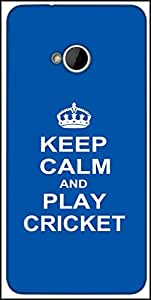 Snoogg Keep Calm And Play Cricket Designer Protective Back Case Cover For HTC M7