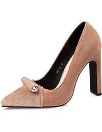 a42b8594c2a Las Mujeres Zapatos de tacón Grueso Tacones Zapatos de Fiesta tacón ...