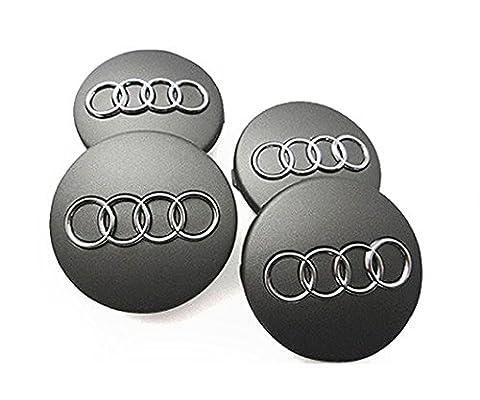 Audi Grey Alloy Wheel Centre Hub Caps