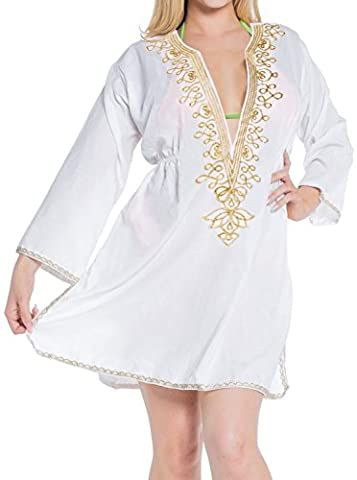 Tunique Plage Blanche - la robe de rayonne leela plage, plus