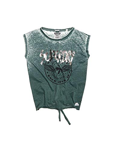 Superdry Damen T-Shirt Knot Back Tee Punk Khaki Burnout, Größe:S -