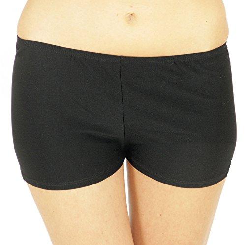 (Foxxeo 35019 | sexy Hot Panties Pants kurz schwarz Panty One Size 80er 90er Jahre Höschen Panty)