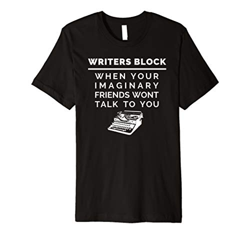 Writers Block Author T-Shirt, Funny Writing Tee For Novelist