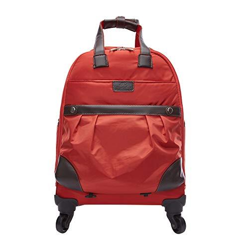 CYXYX Laptop-Rucksack, Trolley-Rucksack School Bookbag Für College-Reiserucksack Für 15,6-Zoll-Laptop Und Notebook,Red