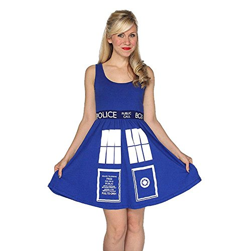 Doctor Who - Tardis Junioren a-Linie Kleid - groß