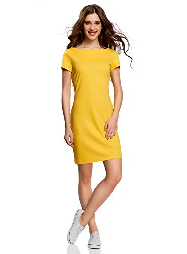 Jerseykleid gelb