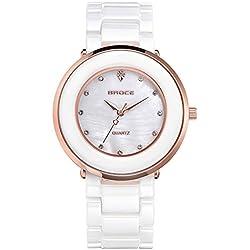 Stylish ceramic watch/Couple watch/Daily waterproof quartz watches-A