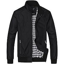 Dehutin 2017 Hombres Casual Talla grande Chaqueta Moda Collar del soporte Abrigo Ropa de trabajo