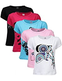 Goodway Senior Girl Attitude 5 Pack Printed T Shirts