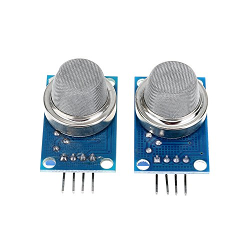 asiproper 2x mq-4Methan Gas Sensor natur Kohle Methan-Detektor Modul für Arduino (Vier Gas-detektor)