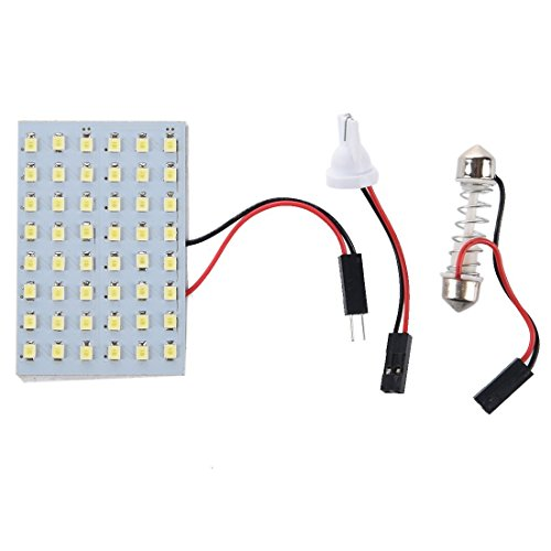 TOOGOO(R) 5x 48 blanc SMD Panneau LED 12V + T10 / BA9S Socket + Soffitte Module 29-42mm