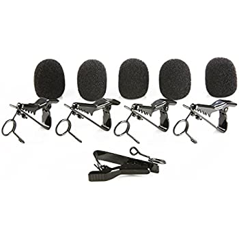 Sharplace 10 Pack Mini Lavalier Microphone Clip Safe Hold Shock Secure Lapel Mic Clamp Replacement Kit 8mm Diameter