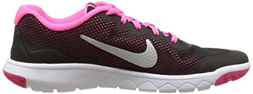 Nike Herren Flex Experience 4 (Gs) Sneaker mehrfarbig (Black/Metallic Silver-Pink Pow)