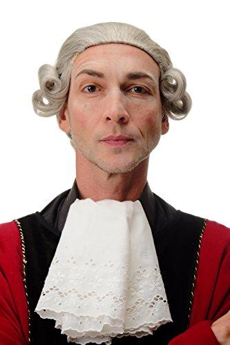 WIG ME UP - F2588-51 Perücke Qualitätsperücke Herren Karneval Theater Barock Lord Edelmann Adliger grau