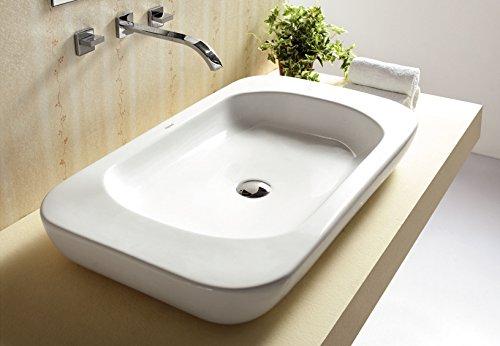 Art-of-Baan® - Design Waschbecken, Waschschale 820*470*138 mm weiß, mit Lotus Effekt (5278)