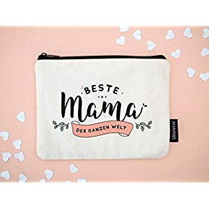 Kosmetiktasche für Mama | Beste Mama der Welt | Mutter Geschenk, Beste Mutter, Beste Mutter Geschenk, Geschenke für Muttertag, Geburtstag Mama, Weihnachtsgeschenk für Mama