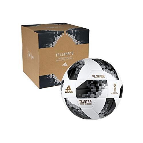 BALL FIFA WORLD CUP TOP REPLIQUE White/Black/Silver Metallic 2018 Adidas SIZE 5 White/Black/Silver Metallic