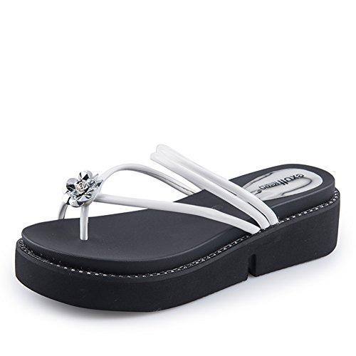 Pantoufles Fraîches En été/Sandales à Plateforme/Chaussures De Plage Dames B