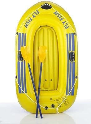 Happy People 77012 - Bote hinchable (230 x 135 cm), color amarillo