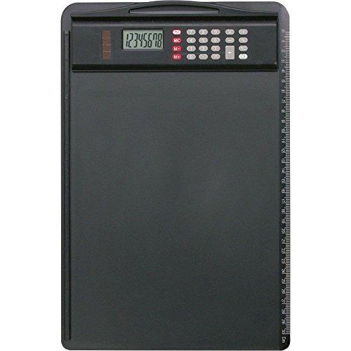 Klemmbrett aus ABS-Kunststoff, schwarz, ca. 35 x 23 cm (Druck-rechner Schwarz)