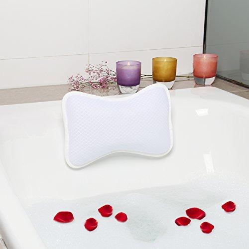 Badekissen Spa Kissen Antibakterielles Luxuriöses Kissen, 2 starke Saugnäpfe, Home Spa Rutschfeste Auflage für Badewanne, Hot Tub, Whirlpool