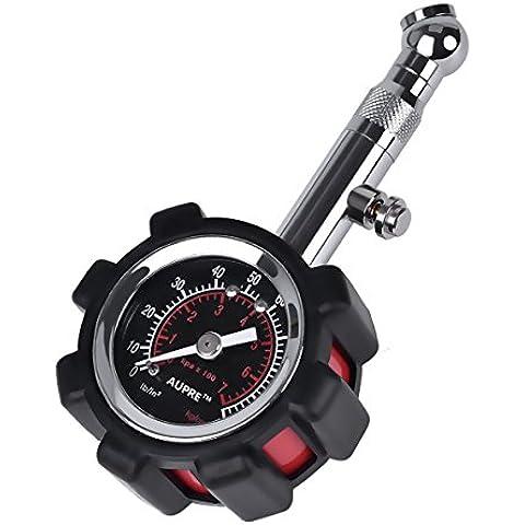 Pneumatici Manometro Valvola di tenuta integrata per auto e moto–100psi