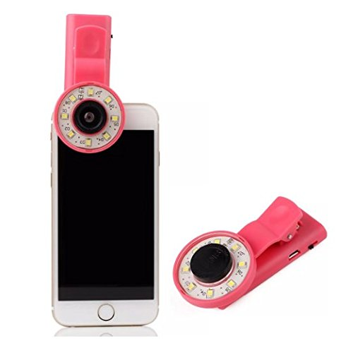Selfie Flash Led Ring per smartphone (Viola)