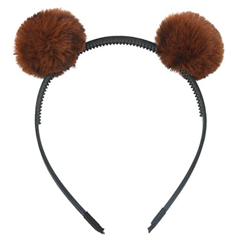CHUNJIANGSHUI 1 STÜCK Mädchen Stirnband Haarband Bär Ohrball Leopardenmuster Design Haarbänder Kinder Kawaii Haarband Katzenohren Hoop (Color : 1)