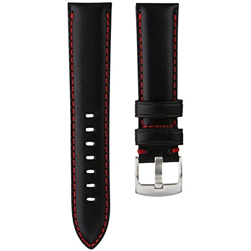 geckotar-genuine-italian-leather-padded-watch-strap-black-with-red-stitching-22mm