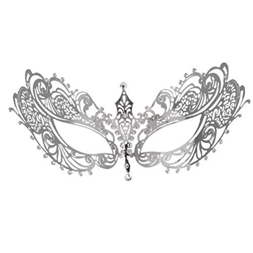 Toyvian Maskerade Masken Venezianische Maskerade Masken Kostüm für Party Hochzeit Zubehör (Silber)
