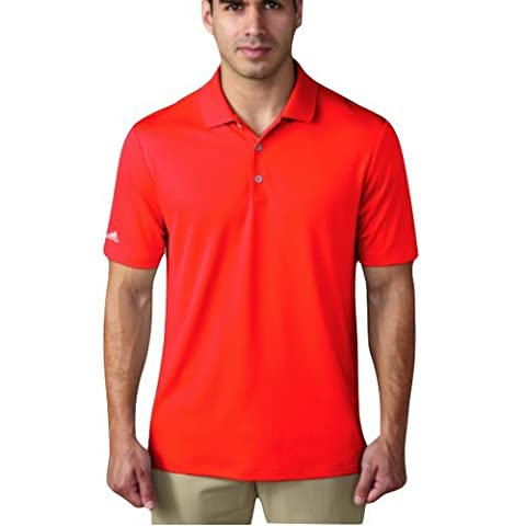 Adidas performance t-shirt polo de golf homme L rouge