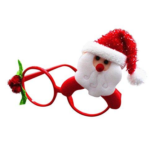 BoodTag Partybrille Weihnachten Lustig Brille Kostüm Glasses Halloween Party Zubehör (A)