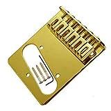 Gold Tele Bridge Electric Guitar Saddle Bridge Top Load for Fender Tele